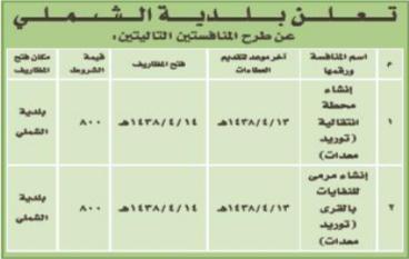 منافسة - بلدية الشملي