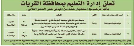 منافسة - ادارة التعليم / محافظة القريات