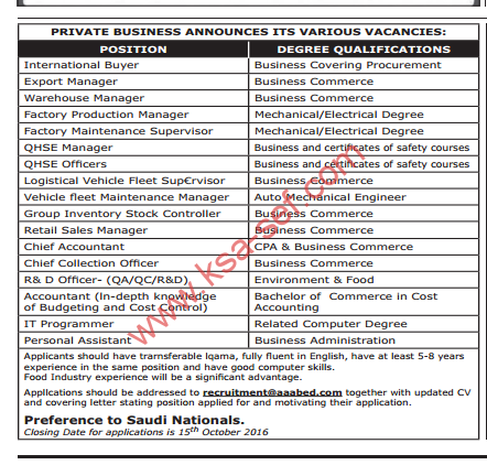 private-business-announces-its-various-vacancies