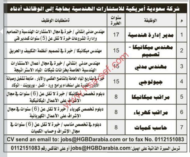 شركة سعودية امريكية للاستشارات الهندسية