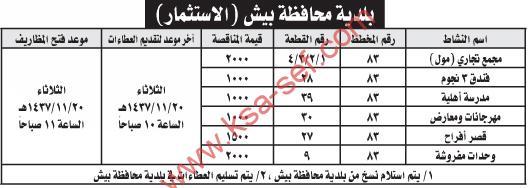منافسات عديدة بلدية محافظة بيش
