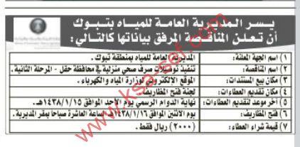 مناقصة- تنفيذ توصيلات صرف صحي منزلية في محافظة حقل- المرحلة الثانية
