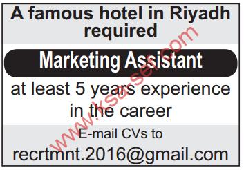 وظائف فندقية - Marketing Assistant